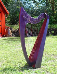 26 string purple harp